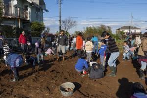 大人も子どもも掘り残しがないように掘る。ひたすらに